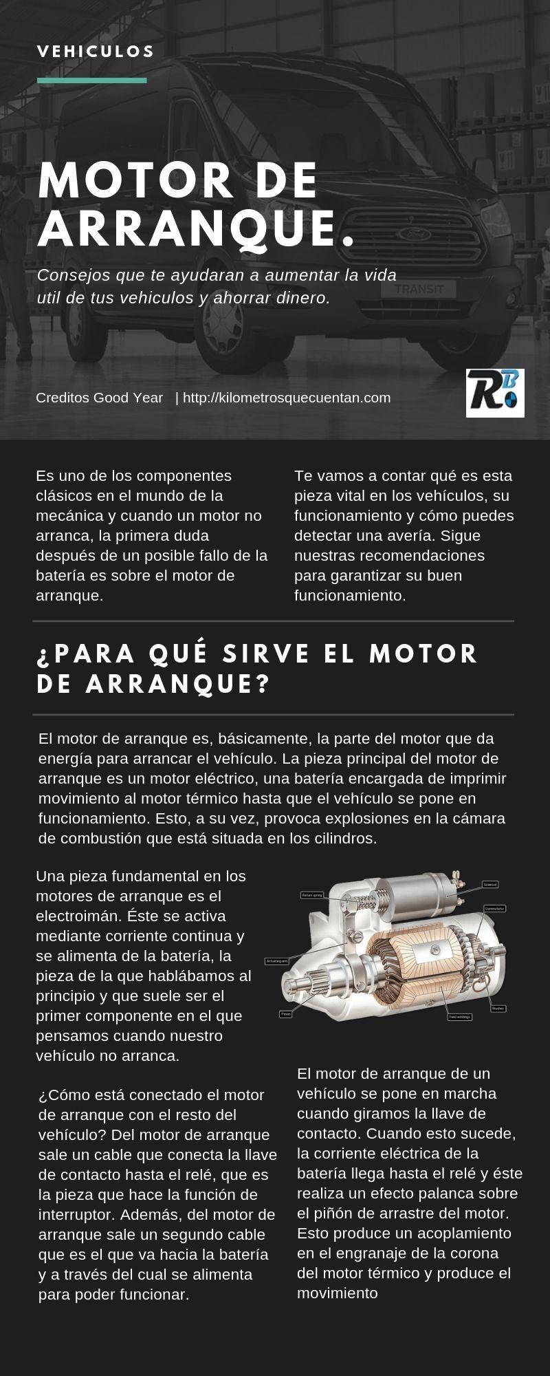 Aumenta la vida útil del motor de arranque de tus vehículos.